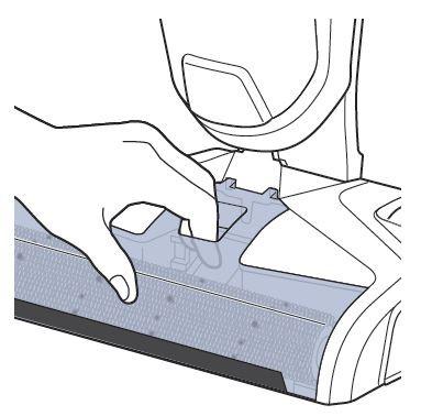 Extracción de la ventanilla del cepillo rodillo del CrossWave