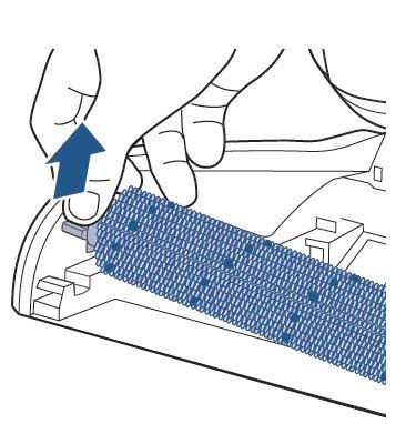 Extracción del cepillo rodillo del CrossWave