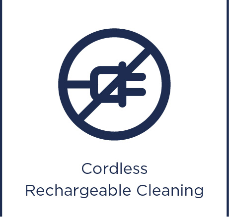 Cordless rechargeable cleaning