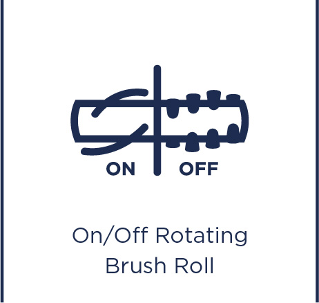 On/off rotating brush roll