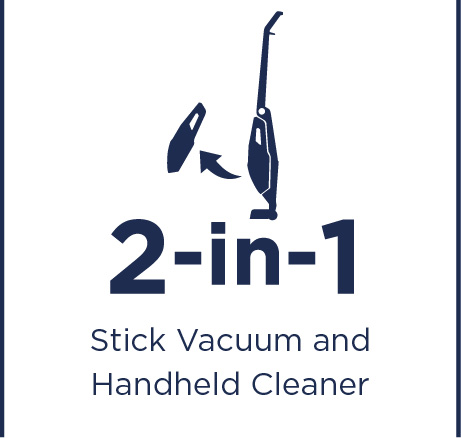 Stick vacuum and handheld cleaner