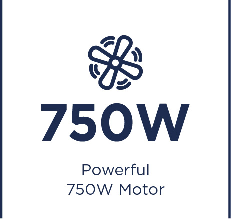Powerful 750W motor