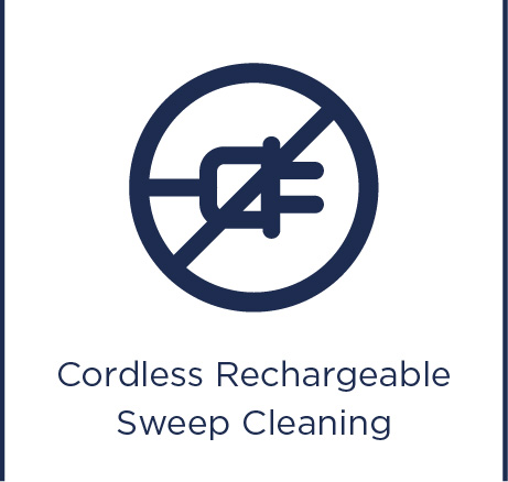 Cordless rechargeable sweep cleaning