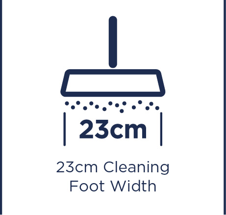 23cm cleaning foot width