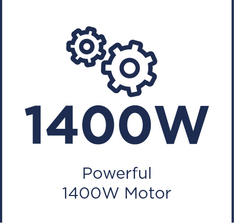 Powerful 1400W motor