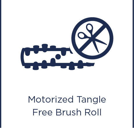 Motorised tangle free brush roll