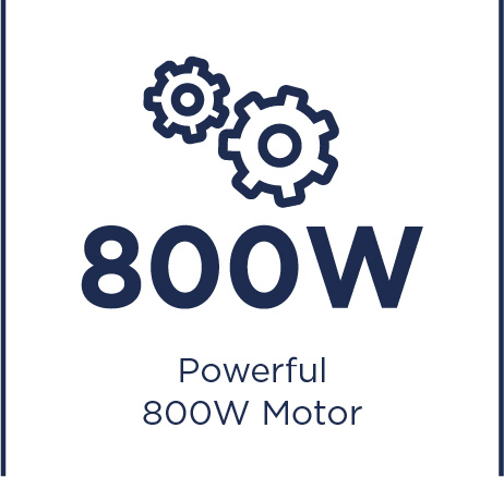 Powerful 800W motor