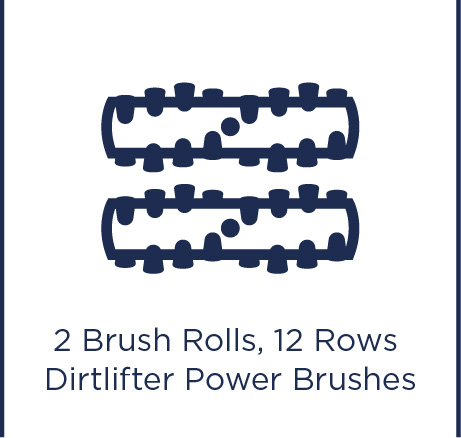 2 brush rolls, 12 rows DirtLifter Power Brushes