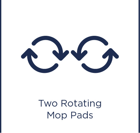 Two rotating mop pads