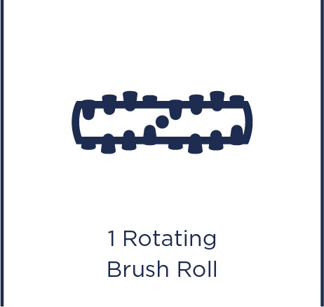 1 rotating brush roll