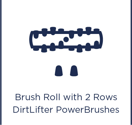 Brush roll with 2 rows DirtLifter Power Brushes